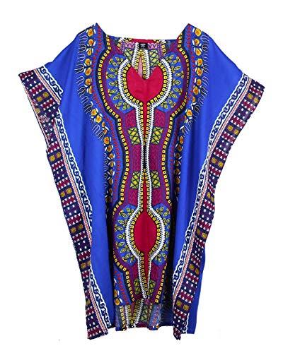 (BONYA Women's Ethnic & Tribal Dashiki Printed Kaftan Plus Size Top)