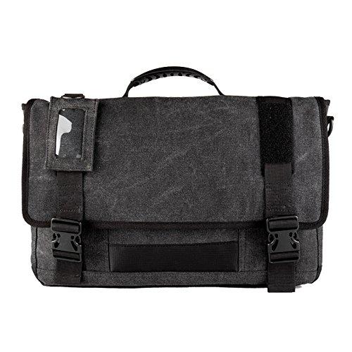 Mens Multifunctional Canvas Messenger Bags crossbody Shoulder Laptop Bag Satchel Bag BLack (Suede Laptop Bag)