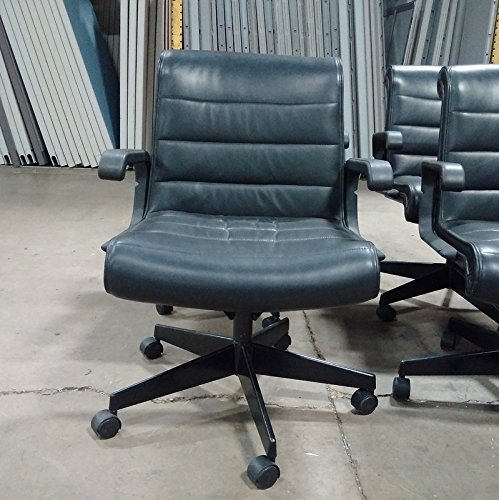 Knoll Sapper Mid Back Black leather Conference Chair, used for sale  Delivered anywhere in USA