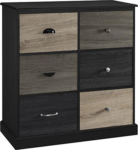 Ameriwood Home Mercer 6 Door Storage Cabinet with Multicolored Door Fronts, - Kitchen Fronts Door Cabinets
