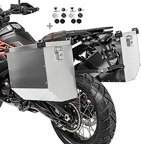 Maletas laterales aluminio para KTM 1290 Super Adventure R / S / T Atlas 41l-36l con Kit de montaje de portamaletas 18mm