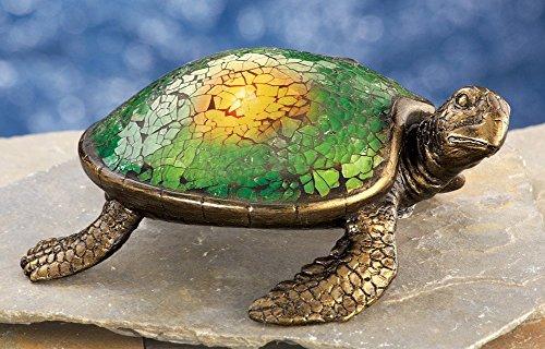 Sea Turtle Bronze Sculpture (Solar Lighted Mosaic Whimsical Garden Sea Turtle Garden Decor)