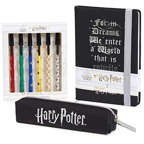 Harry Potter Briefpapierset met notitieboekje A5, etui en 6 pennen, schattige schrijfsets voor meisjes en jongens…