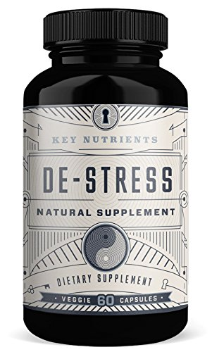 Anxiety & Stress Relief Supplement: DE-Stress Provides Adrenal Support, Relaxation & Anxiety Reduction Contains Magnesium, Ashwagandha, Rhodiola Rosea, 5HTP & More. 60 Veggie Capsules (Best Anti Stress Pills)