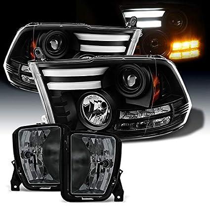 Amazon Com Xtune For 2013 2017 Ram 1500 Black Light Tube Drl