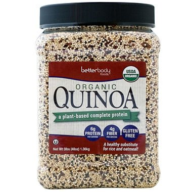 Better Body Foods Organic Quinoa 1.5 lb (Pack of 2) by BetterBody Foods