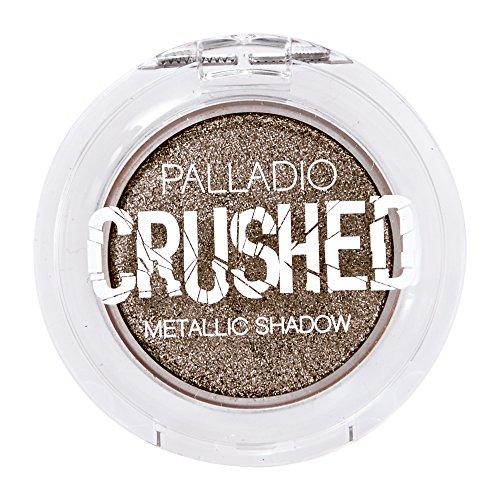 Palladio Crushed Metallic Eyeshadow, Stellar, Pressed Pigments for Highly Reflective Foil Finish, Cream Eyeshadow w/ No Creasing, Amazing Color Depth, Apply Glitter Eyeshadow with Eyeshadow Brushes (Cream Eye Shadow Compact)