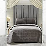 VHC 21224 Shams, Queen Set - 90X90, Rochelle Grey