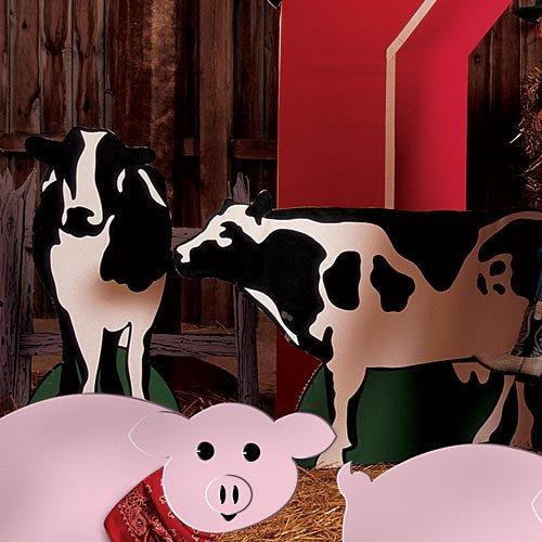 Barn Scene Setters - Farm Barnyard Cow Standees Farm Standup