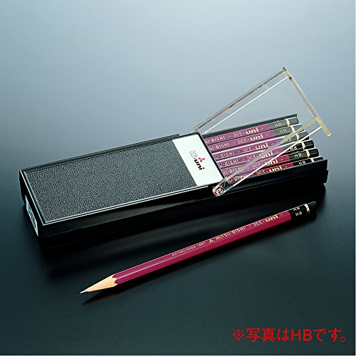 Uni Hi-Uni Wooden Pencil - 2B - Box of 12 (HU2B)