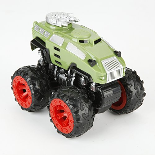 Nuo Peng push and go friction powered, 4WD powered, high speed cross country vehicle toys, Panzer (Green) - Cross Country Vehicle