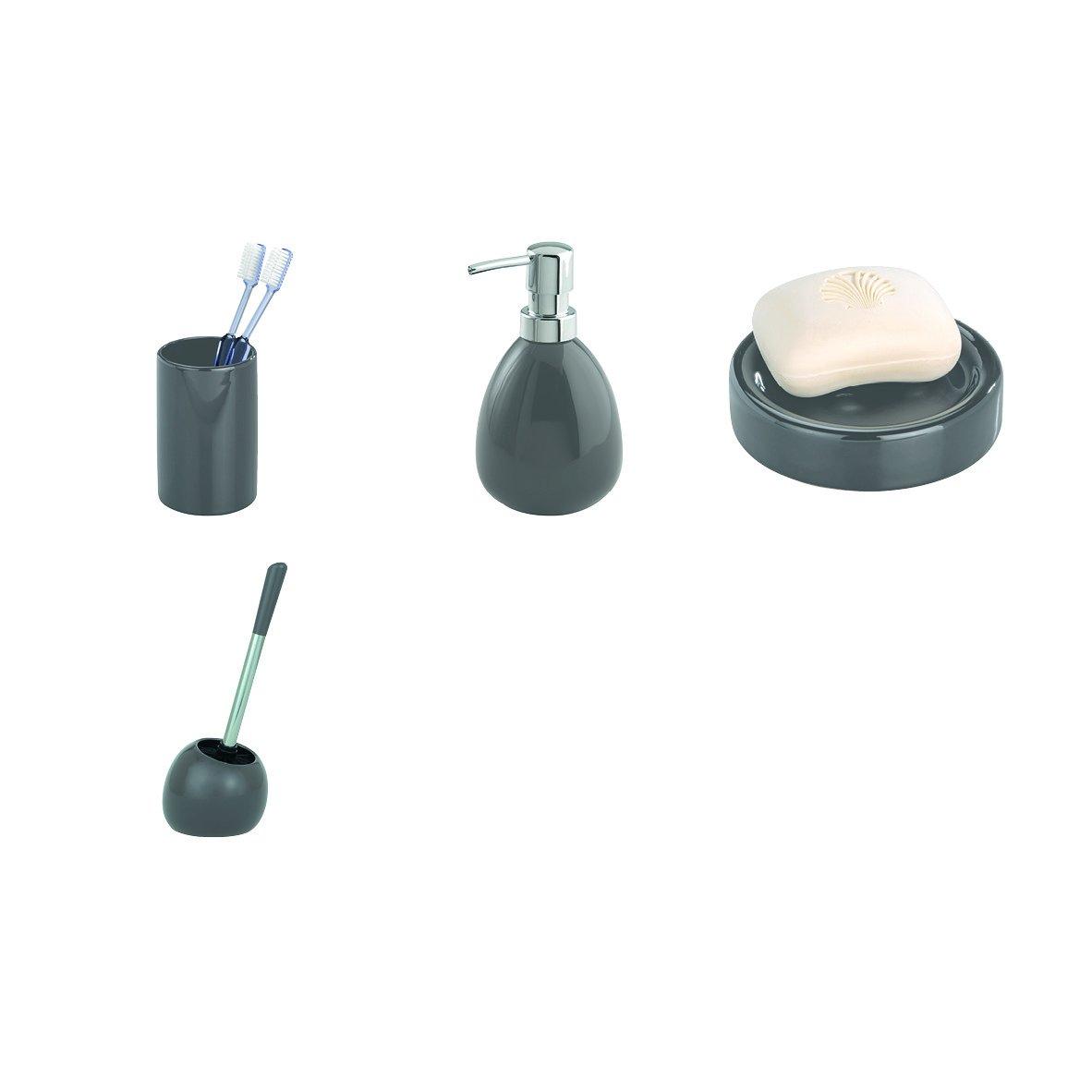 26 x 2.6 x 10 cm Badablage Grau WENKO 22003100 Ablage Polaris Grau Keramik