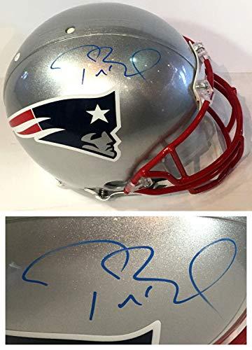 Tom Brady Super Bowl 51 MVP Autographed Signed Authentic Pro Patriots Helmet Signature Steiner Autographed Patriots Pro Helmet