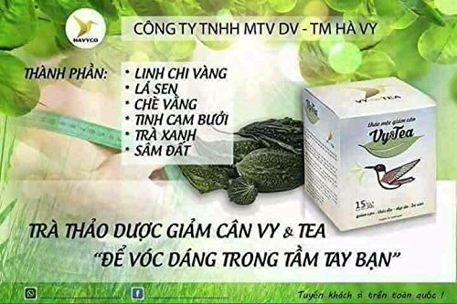 3 box (45 pack - Use 45 days) Trà Thảo Mộc giảm cân Vy & Tea -Vy & Tea - natural herbal tea help weight loss, sleep deep and purifying the body by Vy and Tea (Image #1)