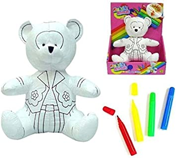 Brittany Stuffed Animal, Paintable Draw On Color And Wash Cute Teddy Bear Stuffed Washable Novelty Toy With Markers Coloring Animal Toy By Novelties Company Amazon Co Uk Toys Games