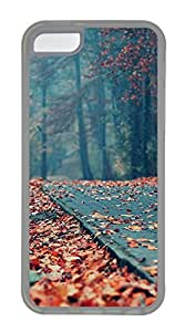 iPhone 5C Case, iPhone 5C Cases - Nature Fallen Leaves Polycarbonate Hard Case Back Cover for iPhone 5C¨C Transparent