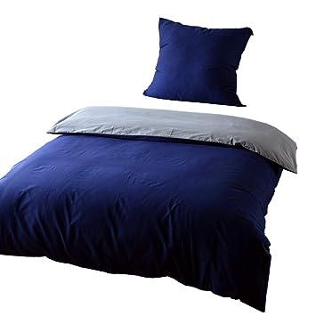 Keayoo Bettwäsche 135x200 Cm Blau Grau 100 Baumwolle Bettbezug