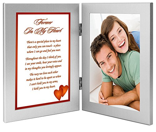 Forever in My Heart Romantic Gift for Wife, Husband, Girlfriend, or Boyfriend, Birthday, Anniversary, Christmas - Add Photo (Your The Best Boyfriend Ever Poems)