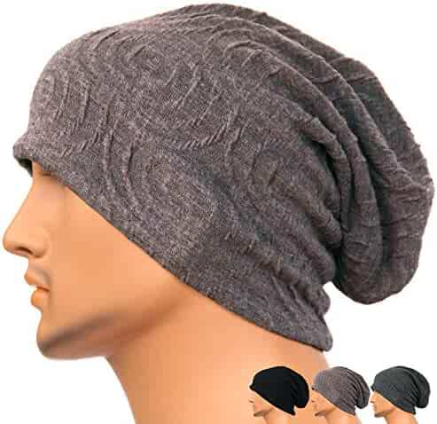 b01c7130 Rayna Fashion Men Women Summer Thin Slouchy Long Beanie Hat Cool Baggy  Skull Cap Stretchy Knit