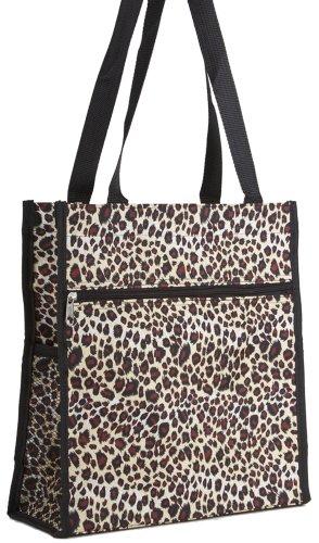 (Leopard Print Tote Bag (Black))