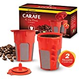 2 Refillable/Reusable Carafe KCup Filters by Housewares Solutions for Keurig 2.0: K200, K300, K400, K500 Series of Brewing Machines