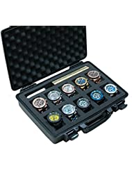 Case Club Waterproof 10 Watch Travel Case with Accessory Pocket