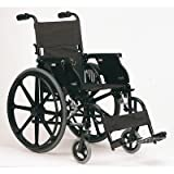 """Lightweight Wheelchair with Built-In Tray Seat Width: 16"""" (Narrow), Front Rigging: Swingaway footrest"""
