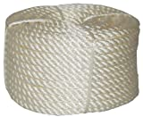 T.W . Evans Cordage 32-033 1/2-Inch by 100-Feet Twisted Nylon Rope Coilette