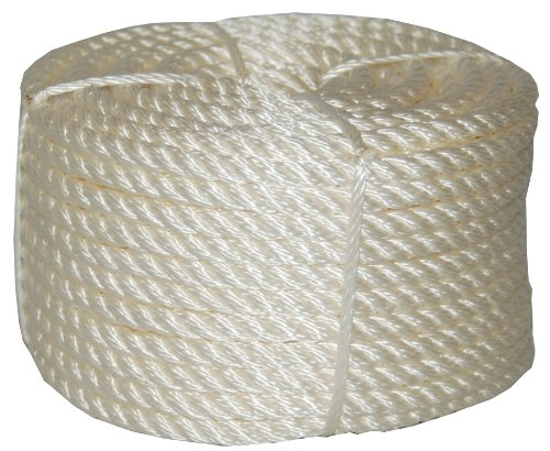 T.W Evans Cordage 32-066 3/4-Inch by 100-Feet Twisted Nylon Rope Coilette ()