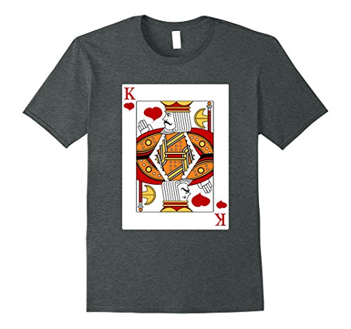 Mens Deck Of Cards Halloween King of Hearts Couples Costume Shirt XL Dark (Homemade Halloween Costumes For Couples Adults)
