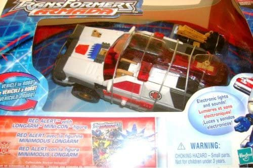 Transformers Armada Red Alert Figure with Longarm Mini-Con Lights /& Sound in Mint Box