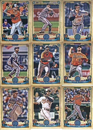 2019 Gypsy Queen Baseball Baltimore Orioles Team Set of 10 Cards: Josh Rogers(#43), Mark Trumbo(#60), Chris Davis(#114), Dylan Bundy(#142), Trey Mancini(#148), Tim Beckham(#167), Dylan Bundy(#232), Alex Cobb(#270), Jonathan Villar(#284), Cedric Mullins(#287)