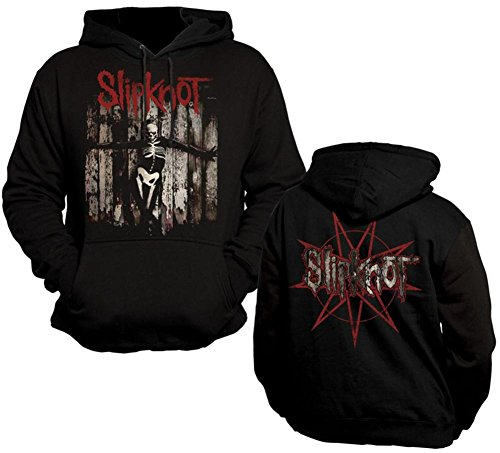 Bravado Hoodie: Slipknot- The Gray Chapter Skeleton (Front/Back) Pullover Hoodie Size S -
