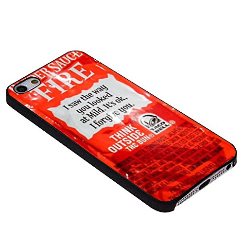 NEW TACO BELL SAUCE FIRE For iPhone Case (iPhone 5c black) (iPhone 6 plus black)