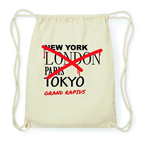JOllify GRAND RAPIDS Hipster Turnbeutel Tasche Rucksack aus Baumwolle - Farbe: natur Design: Grafitti B5xUkh