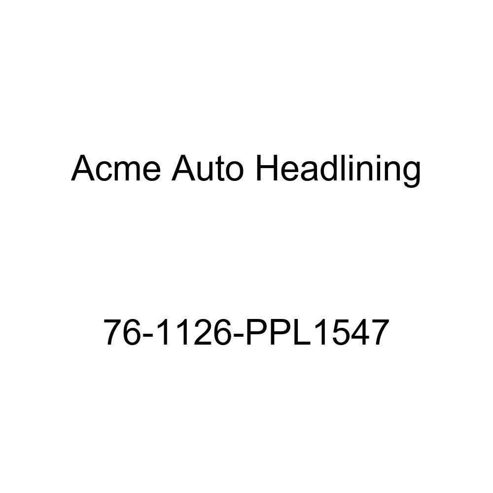 T-Hanger 1976 Buick Century 4 Door Hardtop Acme Auto Headlining 76-1126-PPL1547 Medium Blue Replacement Headliner