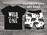 Baby Boys 1st Birthday Outfit Wild One Outfit Wild One Birthday Wild One Bear Outfit Wild One Shirt Boys 1st Birthday Shirt One Shirt