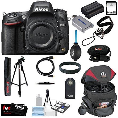 UPC 680569092175, Nikon D610 FX-format Digital SLR Camera Body + 32GB SDHC Memory Card + Replacement Battery + Tamrac Case + Accessory Kit