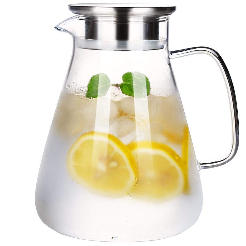 high Boron Heat Resistant tuft Pot 2L Glass Cold Water Bottle Juice jug,