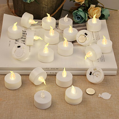 Flameless Candles   Battery Operated Tea Lights Votive Candle Led Tea Light   Unscented Led Realistic Tealights   Fake Candles 200 Hours   Warm Yellow Flame   Holiday Wedding Decorations 20 Packs