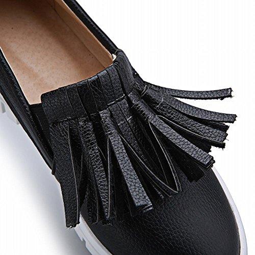 Flats Fashion Show Shine Black Bungee Show Tassels Shoes Womens Shine 0RUqwxpvR