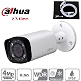 Dahua IPC-HFW4431R-Z 2.7~12mm Motorized Varifocal Lens 4MP IP Bullet camera POE IP67 Weatherproof Outdoor Security Surveillance Camera ONVIF International Version