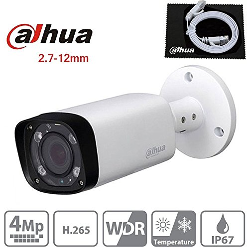 Dahua IPC-HFW4431R-Z 2.7~12mm Motorized Varifocal Lens 4MP IP Bullet camera POE IP67 Weatherproof Outdoor Security Surveillance Camera ONVIF International Version