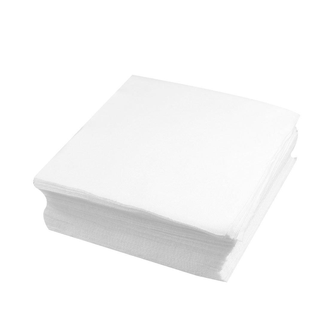 sourcingmap/® 100 x toallitas para salas limpias blanco pa/ño limpio antipolvo de 6 x 6