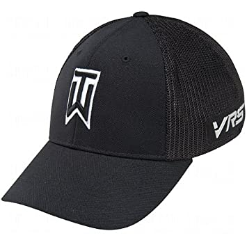 Tiger Woods Tour Mesh Fitted Golf Hat (Black)  Amazon.co.uk  Sports ... 2e1437a2962