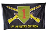 3×5 1st Infantry Division The Big Red One Knitted Nylon Premium Flag 3'x5′ House Banner Double Stitched Fade Resistant Premium Quality For Sale