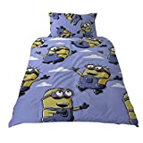 Despicable Me Childrens/Kids Official Bellow Minions Reversible Duvet Cover Bedding Set (Twin) (Multicolored)
