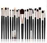 12/15/20/6/4Pcs Makeup Brushes Kit Eyeshadow Powder Eyeliner Blending Brush Brushes Set 20pcs C