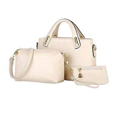 54400e52ec0c Amazon.com  Kindsells 3 Pcs Set Women Shoulder Tote Bags Vintage Crocodile  Pattern Handbags Top Handle Satchel Purse Large Satchel  Shoes
