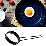 Round Egg Rings,Cocal Non-stick Egg Fryer Handle Round Egg Rings Shaper Pancakes Molds Ring